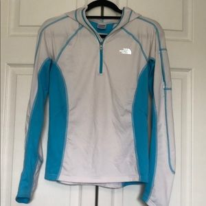 North Face hooded quarter zip